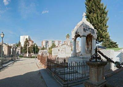 Panorama des de llevant de la part central del cementiri